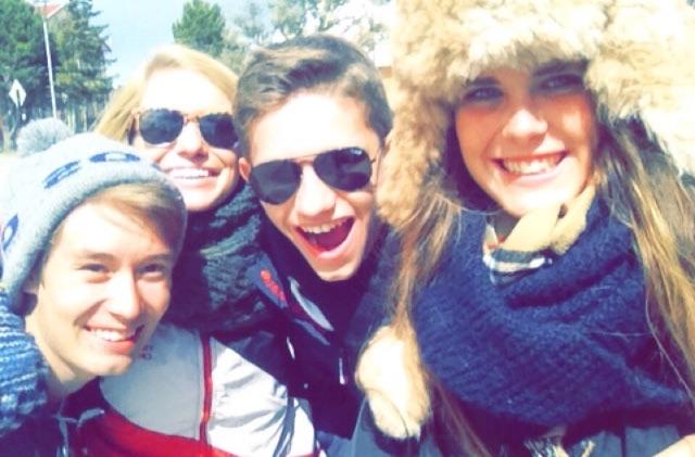 ...Mikko aus Finnland, Rachel aus USA und Fabio