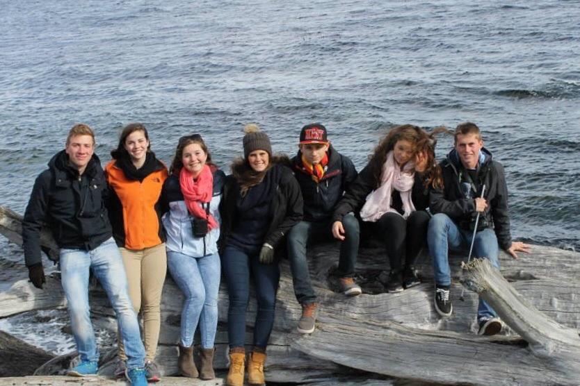 Justus, Holly, Valerie,Ich, Fabio, Sophia und Gaspard aus Frankreich