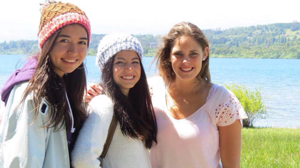 Mit Catalina und Daniela