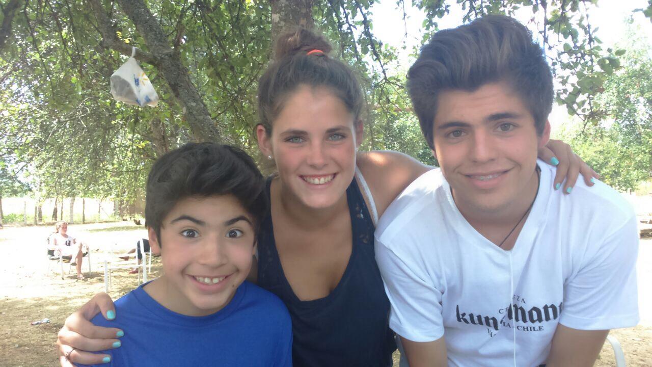 Mit Esteban und Eduardo