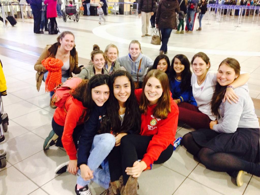 Am Flughafen,um Kaia aus USA zu verabschieden :(